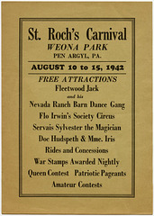 Fleetwood Jack and His Nevada Ranch Barn Dance Gang, St. Roch's Carnival, Weona Park, Pen Argyl, Pa., August 10 to 15, 1942