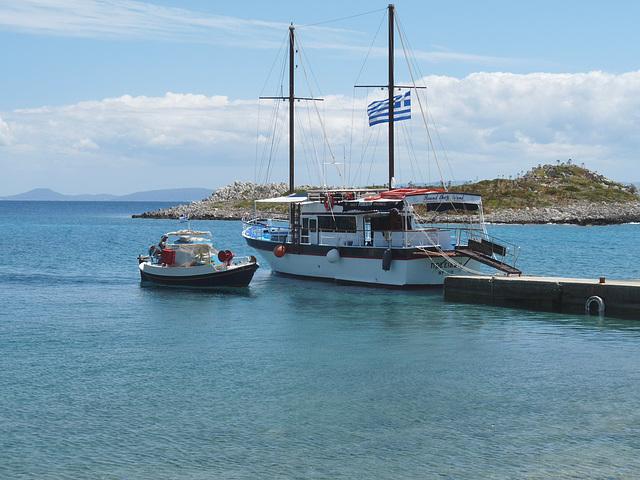 'Poseidon' and Fishing Boat at Sesklia