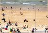 Strandleben bei 15 Grad C