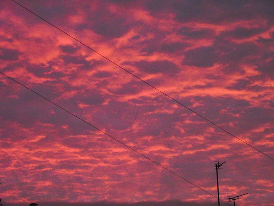 Red sky at night predicting a wonderful day to follow