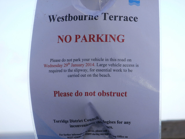 Sign showing that the Council is trying to keep it safe