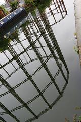 regents canal gasholders, bethnal green,  london