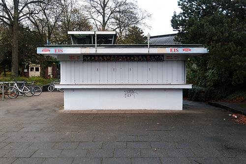 Kiosk von Eis Livotto am Dammtor, 6.11. 2013
