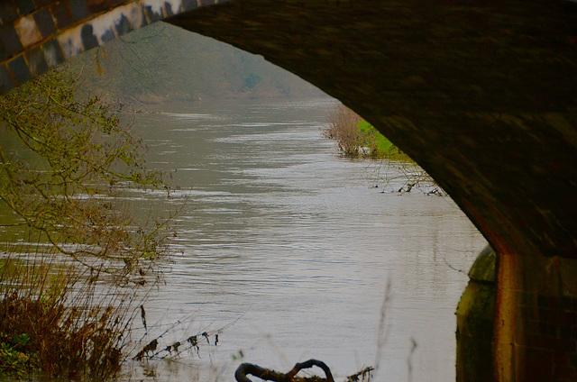 River Trent at Wheatmans Bridge, Little Haywood