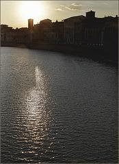 Crépuscule sur l'Arno