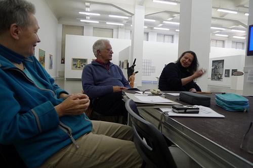 Konversationsrunde im Kunsthaus Hamburg zum Thema Interesselos