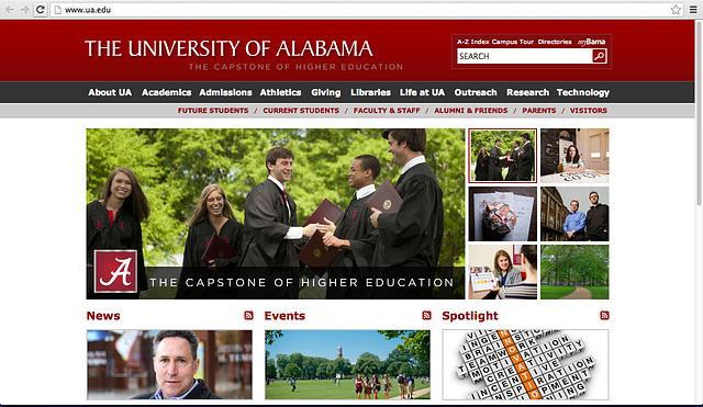 University Of Alabama website