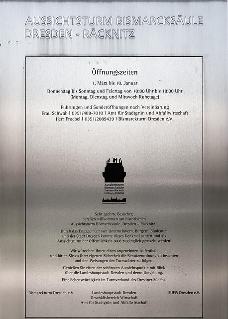 Bismarcksäule Dresden-Räcknitz