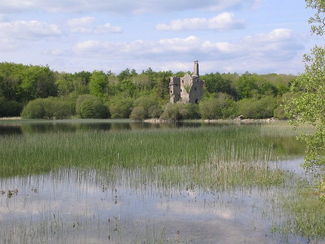 The old tower house on Dromore Lough