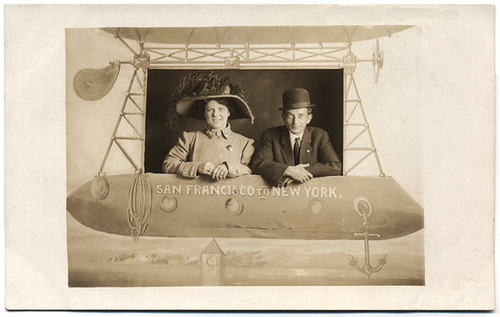 On an Airship from San Francisco to New York