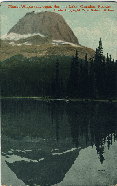 Mount Wapta (alt. 9990), Summit Lake, Canadian Rockies