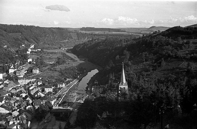 View Luxembourg. 1950s. Vianden.