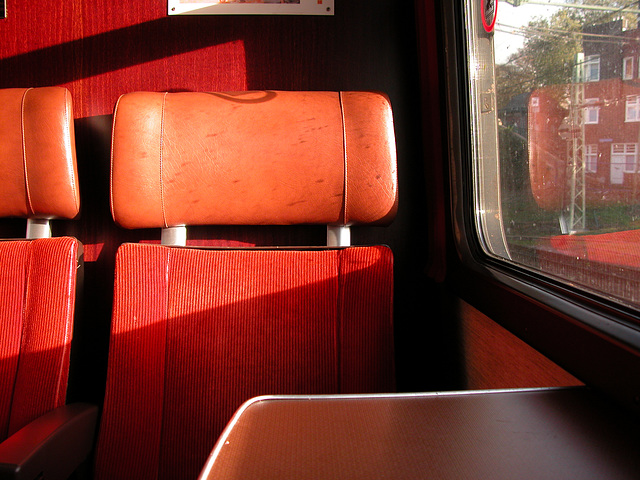 Dutch train interiors: first-class, long-distance train