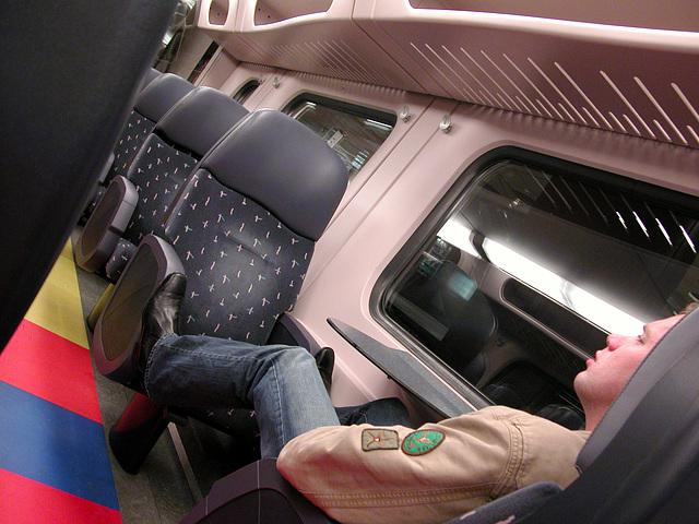 Dutch train interiors: first-class, regional trains