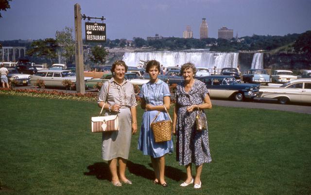 Modeling Handbags at Niagara Falls, 1960