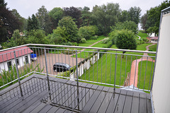 My hotel room in Malchow – balcony