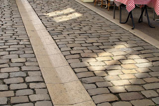 Pavés (Rue des Marronniers) (Quartier de la Presqu'Ile à Lyon) (France, Europe)