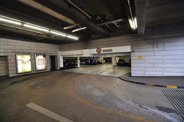 Entrance to a parking in Aix-la-Chapelle