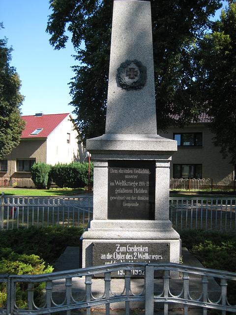 Denkmale Weltkriege - Schöneiche