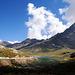 Lake at the top of the Gavia Pass