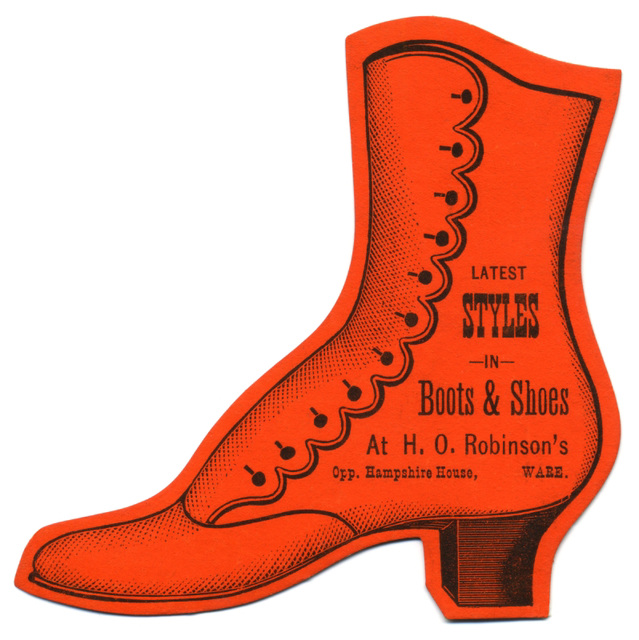 Latest Styles in Boots and Shoes, H. O. Robinson's, Ware, Mass.