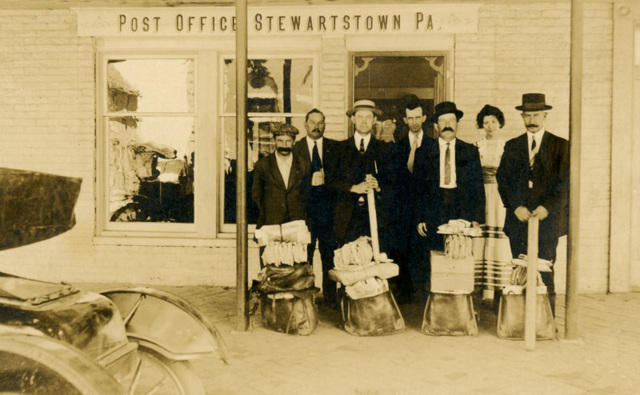 Mail Carriers at the Post Office, Stewartstown, Pa.