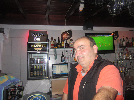 Zia our friendly barman