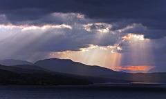 Rays of Light, Loch Rannoch, Kinloch Rannoch, Scottish Highlands