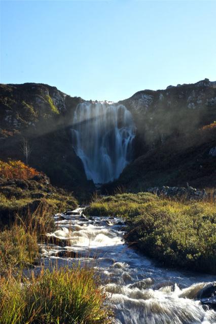 Clashnessie Falls, Clashnessie, Sutherland, Scottish Highlands