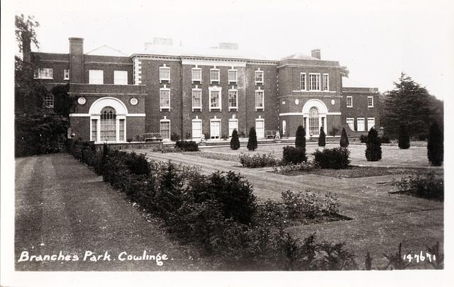 Branches Park, Cowlinge, Suffolk (Demolished)
