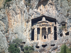 Lycian  tomb in the face of the cliff