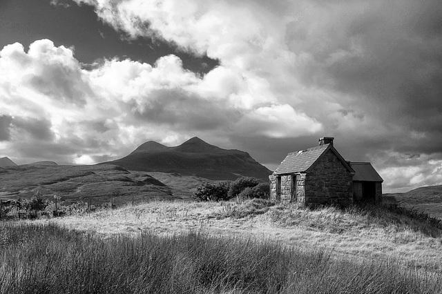 The Old Dog Kennel, Elphin, Sutherland, Scottish Highlands