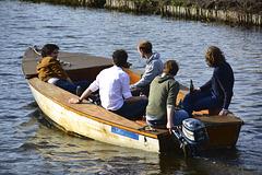 Five men in a boat