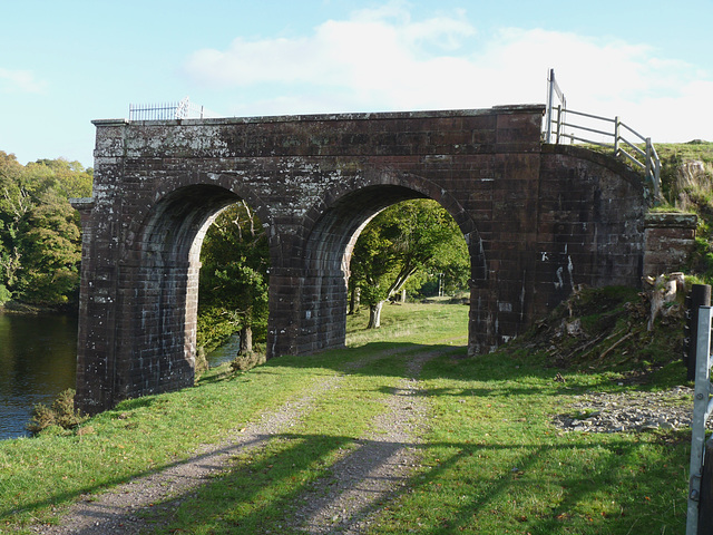 Tongland- Remains of the Old Railway Viaduct