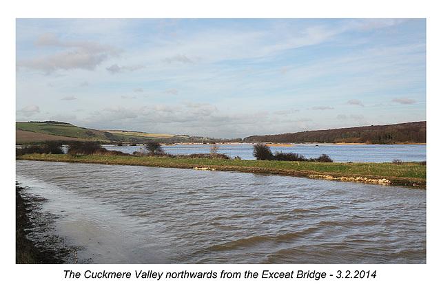 Cuckmere valley - north from Exceat Bridge - 3.2.2014