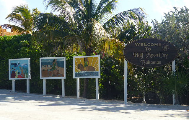 Welcome to Half Moon Cay - 1 February 2014