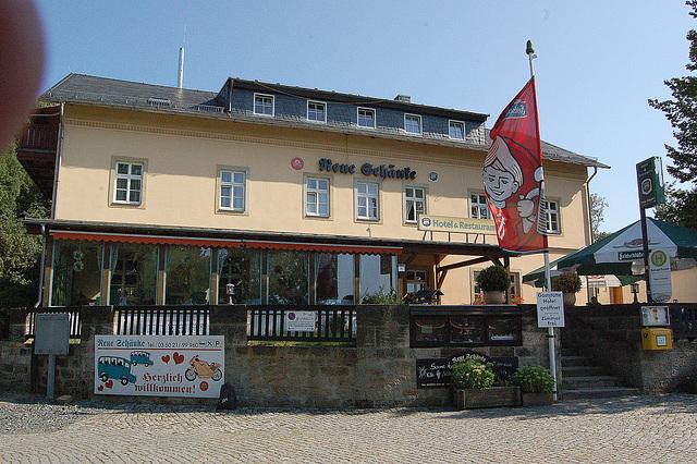 "restoracio ""Nova taverno"" (Restauarant ""Neue Schenke"""
