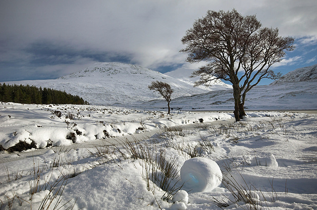 Snow Rollers, Loch a Bhraoin, Wester Ross, Scottish Highlands