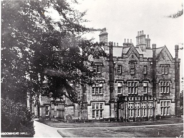 Broomhead Hall, South Yorkhire (Demolished 1970s)