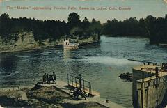 "The ""Manita"" approaching Fenelon Falls, Kawartha Lakes, Ont., Canada"