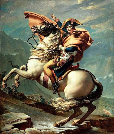 Napoleono Bonaparte en romantika militpozo