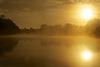 Misty morning at Southwick Lake