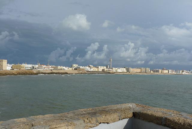 Cádiz la nueva, desde el Malecón