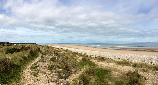 """Our"" beach on a busy, sunny, June morning! @ Findhorn"