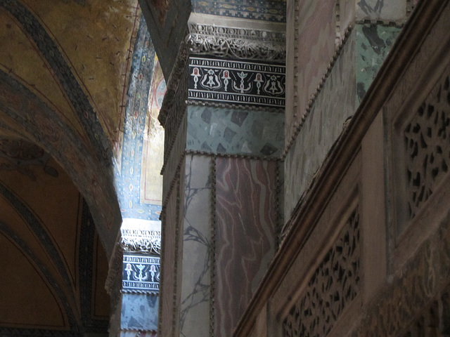 Interior of the Hagia Sophia Museum, Istanbul.