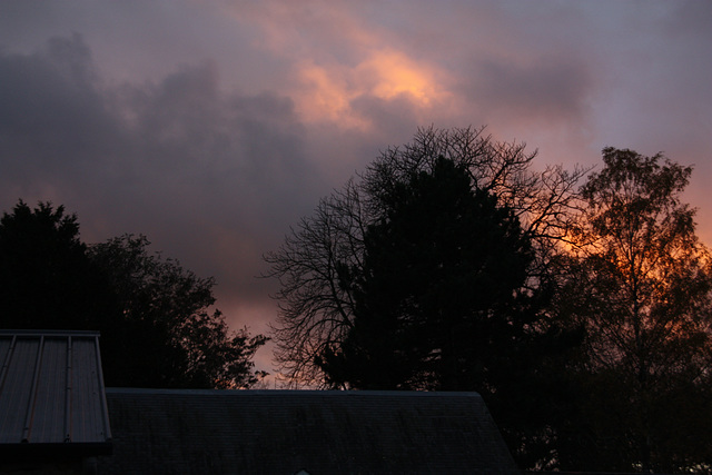 coucher de soleil  de chez moi