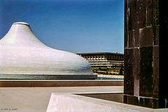 Shrine of the Book and Knesseth, Jerusalem, 1975 (015°)
