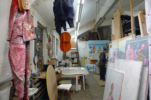 Maleratelier in der MATO Fabrik Offenbach. 16.11. 2013