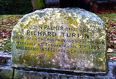 The grave of Dick Turpin.