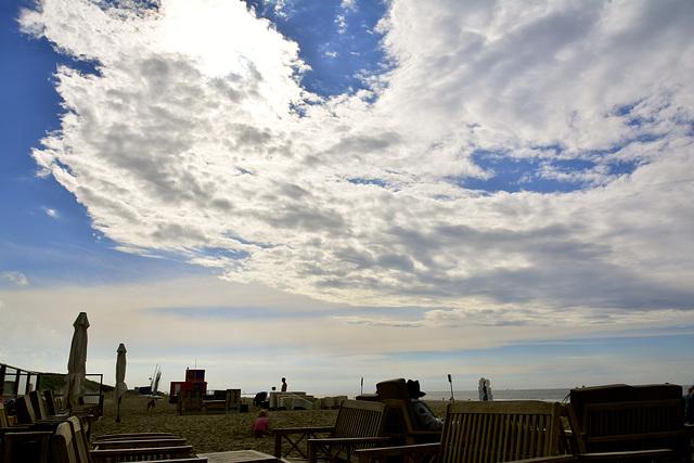 Cloud over Scheveningen beach